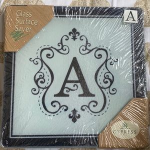"Letter ""A"" Glass Surface Saver 8x8"" New"
